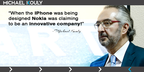 Michaelkouly quotes iphone nokia innovative company