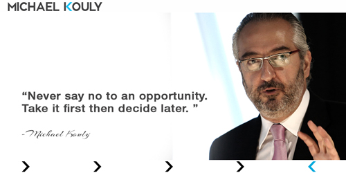 Michaelkouly quotes Strategy nevr say no opportunity take first decide later