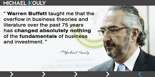 Michaelkouly quotes warren buffet overflow theories business changed absolutely nothing fundamentals investment