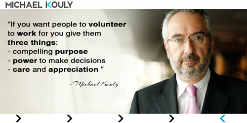 Michaelkouly quotes volunteer work purpose care power appreciation decisions